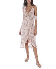 Women's Floral Wrap Dress