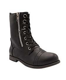 Women's Jacey Lace-Up Combat Boots