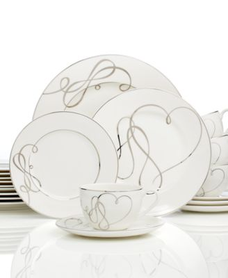 Mikasa Love Story 40-Pc. Dinnerware Set Service for 8  sc 1 st  Macy\u0027s & Mikasa Love Story 40-Pc. Dinnerware Set Service for 8 - Fine China ...