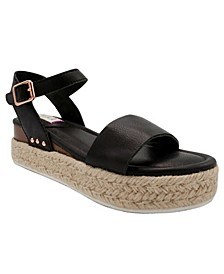 Women's Turntable Flatform Espadrille Sandals