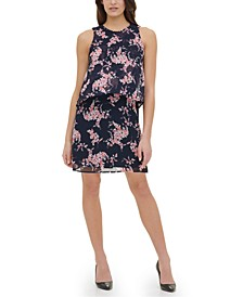 Crescent Floral Chiffon Dress