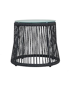 Southport Outdoor Side Table with Glass Table Top