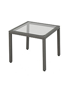 San Pico Outdoor Square Dining Table with Glass Top