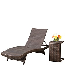 Salem Chaise Lounge with C-shaped Table