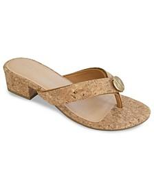 Alexa Cork Heel Sandal