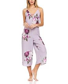 Printed Crepe Jumpsuit