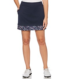 Printed-Trim Golf Skort