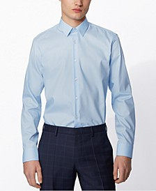 BOSS Men's Eliott Light Pastel Blue Shirt