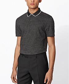 BOSS Men's Pitton 17 Black Polo Shirt
