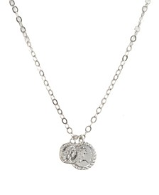 The Adventurer Double Rhodium Coin Women's Necklace