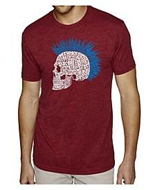 Men's Premium Word Art T-Shirt - Punk Mohawk