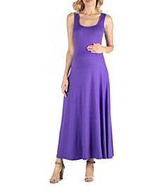 Slim fit A Line Sleeveless Maternity Maxi Dress