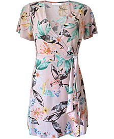 BCBGeneration Flutter Sleeve Wrap Dress