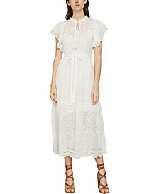 Cotton Eyelet Midi Dress