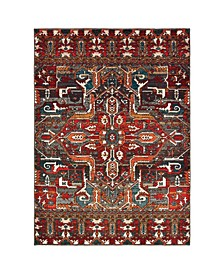 "Sedona 9575a Red 7'10"" x 10'10"" Area Rug"