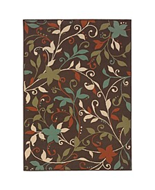 "Negril NEG11 Brown 5'3"" x 7'6"" Area Rug"