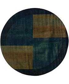 Kismet KIS010 Blue 6' Round Rug