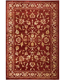 "Romeo ROM02 Red 9'10"" x 12'10"" Area Rug"