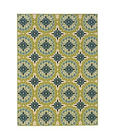 "Bella BEL10 Green 1'9"" x 3'9"" Area Rug"