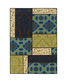 "Bella BEL05 Brown 8'6"" x 13' Area Rug"