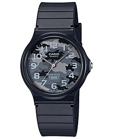 Men's Black Resin Strap Watch 35mm