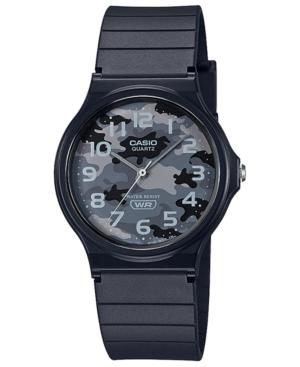 Men's Black Resin Strap Watch 35mm