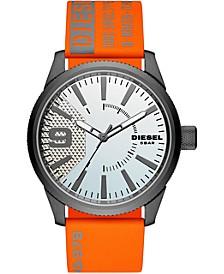Men's Rasp Orange & Gray Nylon Strap Watch 46mm