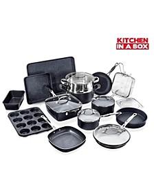 Titanium Diamond Infused Nonstick 20-Pc. Complete Cookware & Bakeware Set