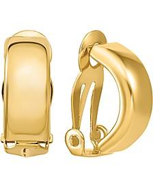 Polished Half Hoop Clip-On Earrings in 14k Gold