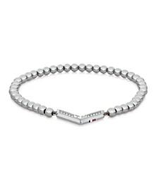 Women's Silver-Tone Stainless Steel Bead Bracelet