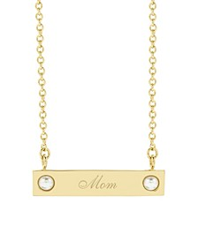 Holly Pearl Mom Necklace