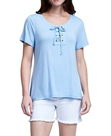 Lace Up Commet Tee