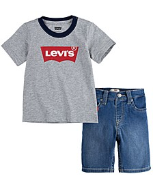Baby Boys Denim Short Set