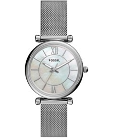 Women's Carlie Stainless Steel Mesh Bracelet Watch 35mm