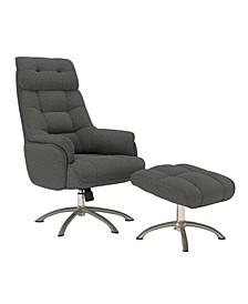 Lisbon Contemporary Swivel Rocker Chair and Ottoman