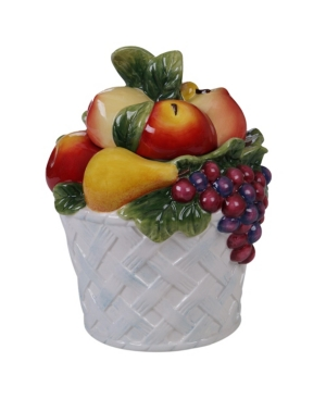 Certified International Ambrosia 3-d Fruit Basket Cookie Jar