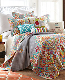 Marielle Damask Reversible King Quilt Set