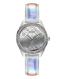 Women's Iridescent and Pastel Crystal Logo Watch 37mm