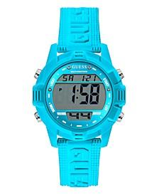 Blue Silicone Digital Watch 40mm