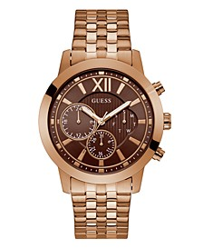 Rose Gold-Tone Brown Multifunction Bracelet Watch 45mm