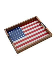 Rectangular American Flag Lazy Susan