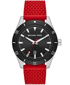 Layton Three-Hand Red Silicone Mesh Watch