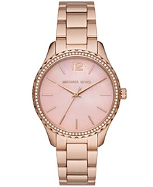 Layton Three-Hand Rose Gold-Tone Stainless Steel Watch