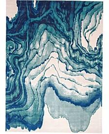"Emma R3602 Turquoise 6'7"" x 9'6"" Area Rug"