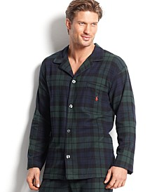 Men's Plaid Flannel Pajama Top