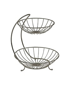 Diversified Yumi 2-Tier Server Sturdy Steel Stacked Fruit Bowls