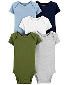 Baby Boys 5-Pk. Cotton Multi-Color Bodysuits
