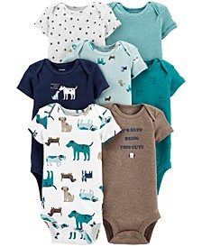 Baby Boys 7-Pack Dogs Printed Cotton Bodysuits