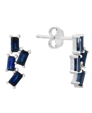 Sapphire (1-1/2 ct. t.w.) Drop Earrings in 14k White Gold