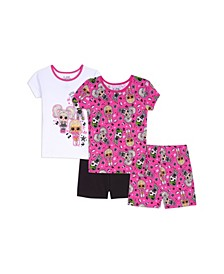 Little Girls 4 Piece Pajama Set
